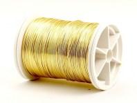 Проволока медная 0.4 мм. полужесткая золотистого цвета, такая проволока предназначена для обмотки в рукоделии Handmade, Wire Wrap, Wire Art,