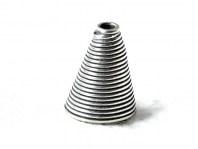 """Конус серебряный ручной работы """"Спираль"""", материал-стерлинговое серебро (925 пробы- 92.5% чистого серебра), размер –12.1х9.5 мм."""