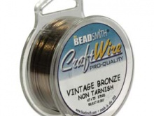 Проволока Сraft Wire  Размер-0.4 мм. (26 ga). Цвет-винтажная бронза.