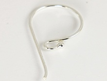 Швензы серебряные для изготовления серег.Материал-серебро 925 (белое).Размер –25х11.5х0.8мм
