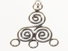 Подвеска-основа серебряная (люстра) для изготовления серег.