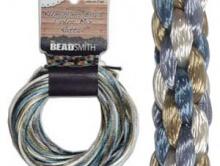Атласный 2 мм. шнур для рукоделия, для плетения в технике KUMIHIMO