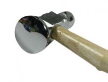 Молоток для ювелирных работ, имеет 2 рабочие поверхности:  в диаметре округлая 14 мм. и плоская 28 мм.