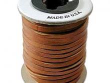 кожаный шнур ювелирного качества  натуральный, 3 мм, цвет - коричневый