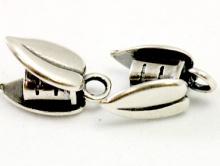 Концевик ант. серебро на шнур 3 мм.