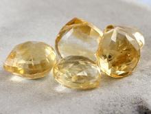 Камень-цитрин натуральный,формалепесток Цвет-теплый золотистый чистый