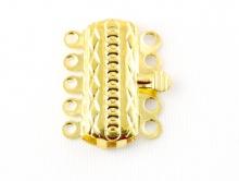 Замок-застежка на 5 нитей для изготовления украшений,  цвет-золото
