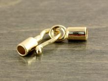 Замочек-концевик родированный на шнур 2-2,5 мм.