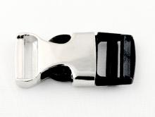 BUCKLE Застежка-пряжка комбинированная: металл+пластик, размер: длина/ширина/толщина/отверстие-38.5/19/7/3 мм.