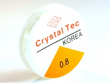 Резинка, эластичная нить производство Китай, катушка 7.5 м. диаметр 0.8 мм., конечно не идет в сравнение
