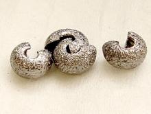 """Бусина на кримп 4 мм. (в закр. сост.), цвет черненое серебро, покрытие """"звездная пыль"""","""
