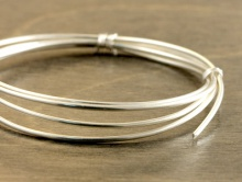 Проволока 1 мм. серебряная полужесткая Sterling Silver, круглая
