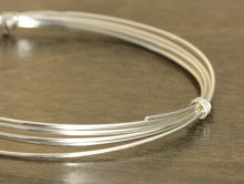 Серебряная мягкая проволока 0.81 мм. (18 ga.) Sterling Silver Dead Soft для ювелирных работ, украшений