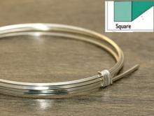 Серебряная полужесткая проволока квадратная  925 пробы Sterling Silver 20 ga (0.81 мм.)
