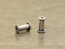 Серебряная трубочка-основа, используется в качестве основы для бусин ручной работы (например полимерная, стекло)