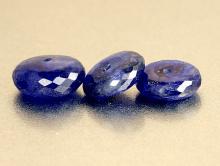 Бусина- ограненнярондельдля изготовления украшений Handmade. Камень природный:сапфир синий-корундприродныйЦвет-синий глубокий,