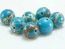 Бусины 8 мм.для изготовления украшений, камень натуральный варисцит тонированный