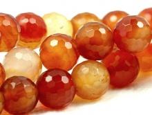 Товар-бусина, шарик ограненный, камень-сердолик натуральный,Используется для изготовления украшений Handmade