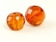 Бусина из камня,камень -оранжевая шпинель(иск. выращенная)шарик ограненный, цвет-золотисто-оранжевыйпрозрачный.
