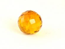 Бусина из камня,камень -оранжевая шпинель(иск. выращенная)шарик ограненный, цвет-золотисто-жёлтый сочный, прозрачный.