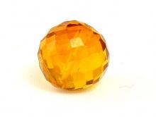Бусина из камня,камень -жёлтая шпинель(иск. выращенная)шарик ограненный, цвет-золотисто-жёлтый сочный, прозрачный.