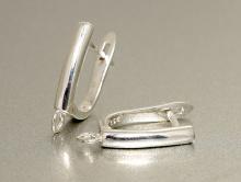 для изготовления серёг серебряные швензы с английским замочком