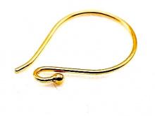 Швензы из серебра с покрытием золота 24 kr, размер–16х10х0.7 мм., материа-серебро 925 пробы (92.5 % чистого серебра).