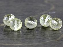 Бусина шарик 6 мм. ограненный -меньше среднего размера, камень-топаз лимонный натуральный