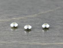 Бусина-распорка-плоскаяронделька глянцевая, материал-серебро 925 (92.5% Sterling Silver), цвет белое серебро,