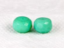 Бусина крупная рондель ограненная, камень-натуральный природный хризопраз. Цвет- приятный бирюзово-зелёный..