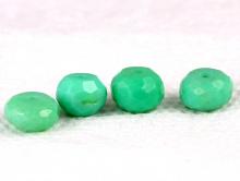 Бусина крупная рондель ограненная, камень-натуральныйприродный хризопраз.Цвет-светлый бирюзово-зелёный с салатовым оттенком.