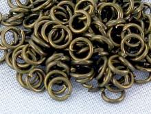 Колечки соединительные 4 мм. цвет античная бронза (латунь состаренная)