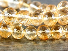Цитрин ограненный шарик Золтисто-желтый прозрачный