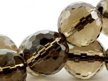 Бусина-шарик ограненный, 10 (+-0,3) мм. вн. отв. 1.1 мм. камень-раух топаз