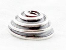 шапочка для бусин серебряная ручной работы