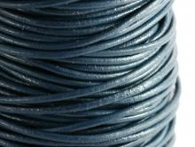 Шнур кожаный 1.5 мм., цвет темно-синий тёплый