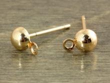 """Швензы """"гвоздики-пусеты"""" родированные. Цвет-розовое золото (покрытие родием). Диаметр шарика-4.7 мм. длина гвоздика 9 мм."""