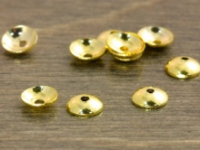 Шапочка для бусин мелкая цвет золото фурнитура для изготовления бижутерии