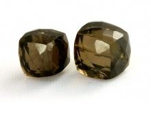 Камень- раух топаз, натуральный, бусина кубик ручной огранки. Цвет дымчато-коричневый, насыщенный,