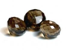 Бусина огранённая, форма-луковка, огранка ручная. натуральный камень-раух топаз (семейство кварцевых),
