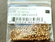 Бусина-шарик Голд Филд, 2.5 мм