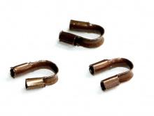 Протэктор для ювелирного тросика или нити,размер–4.5х4 мм.вн. отв.0.5 мм.Цвет–темная медь состаренная (антик),кол-во вуп.–50 шт.