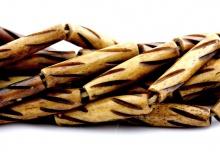 Бусины из натуральной кости За 1 нить 40 см. цвет коричневый