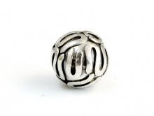 Бусина серебряная-ручной работы. Материал -серебро 925 (92.5 % серебра). Размер -8,5 мм.