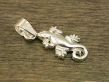"""Подвеска серебряная с бейлом""""Саламандра"""". Материал стерлинговое серебро-сплав серебра 925 пробы (92.5%)"""