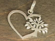 """Бэйл серебряный с крупной подвеской """"Сердце"""", для изготовления украшений"""