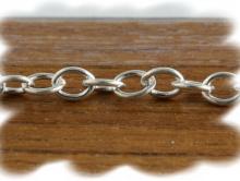 Цепочка паяная серебряная, материал:Sterling Silver (состав: серебро 925 пробы)средняя,для создания украшений, размер: длина, ширина звена/толщина провода4х3х0,5мм. (