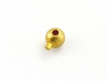 Кримп зажимной профессиональный 3 мм. цвет золото фурнитура для бижутерии