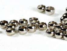 Бусина-кримп, цвет- никель (темный серебристый), размер д/в-1.5х2.4 мм. вн. отв. 1.6 мм.,