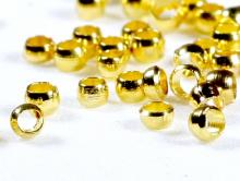 Бусины-кримпы цвет- желтое золото,материал-бижутерный сплав